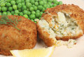Haddock Fishcakes Stock Photos