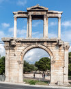 Hadrianâ s emperor gate in athens greece Royalty Free Stock Images