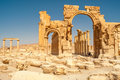Hadrian arch in palmyra ruins Royalty Free Stock Photos