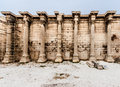 Hadrian library athens greece the facade of ruins with its corinthian columns in downtown Stock Photography