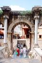 Hadrian's gate Stock Image