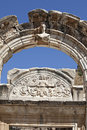 Hadrian's Temple, Ephesus, Izmir, Turkey Royalty Free Stock Images