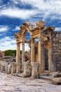 Hadrian temple in ephesus near celcuk turkey Royalty Free Stock Photos