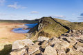 Hadrians Wall and Crag Lough Royalty Free Stock Images