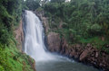 Haew na rok waterfall the huge in khaoyai national park in thailand Stock Images