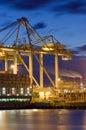 Hafenaktivität Stockfotos