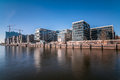 Hafencity in hamburg with elbphilharmonie Royalty Free Stock Images