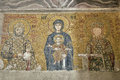 Hagia sofia mosaic of empress zoe and constantine ix monomakhos in istanbul Royalty Free Stock Image