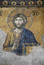 Hagia sofia mosaic of jesus christ in istanbul Stock Images
