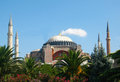 Hagia Sophia – Ayasofya, museum – mosque with high minarets in the city of Istanbul, Turkey Royalty Free Stock Photo