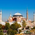 Hagia Sophia against the blue sky Royalty Free Stock Photo