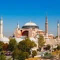 Hagia Sophia against the blue sky Royalty Free Stock Photo
