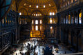 Hagia sophia beautiful view of the historic in istanbul Royalty Free Stock Images
