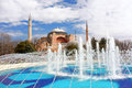 Hagia sophia in istanbul famous landmark mosque turkey Royalty Free Stock Photography