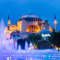Hagia sophia mosque and museum in istanbul turkey former orthodox patriarchal basilica church later a now a as seen from Stock Photo
