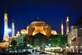 Hagia Sophia at night Stock Images