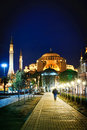 Hagia Sophia at night Stock Photo