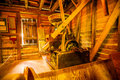 Hagood mill historic site i south carolina Arkivbilder