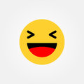 Haha laughing emoticon vector illustration