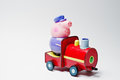 Hai, Ukraine - August 10, 2017: toy character on a train from fa Royalty Free Stock Photo