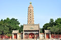 The haibao pagoda temple is the most ancient buddhist architecture in ningxia hui autonomous region it is said that the tower was Royalty Free Stock Images