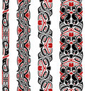 Haida style seamless pattern Stock Photos
