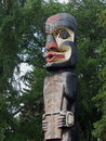 Haida totem pole at legislative fond edmonton alberta Image stock