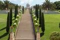 Haifa Bahai garden Royalty Free Stock Photo
