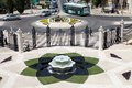 Haifa bahai garden the shape of the fountain is the lotus flower symbol of the religion at the israel Stock Photos