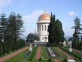 Haifa Bahai Gardens Shrine of Bab December 2003 Royalty Free Stock Image