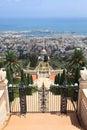 Haifa, Bahai Gardens & Shrine of the Bab Royalty Free Stock Photo