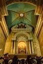 HAIFA, ISRAEL - CIRCA NOVEMBER 2011: Saint Mary altar in Stella Maris Church Royalty Free Stock Photo