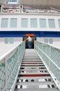Haifa may cruise ship of mano сruise company a male passenger climbing a board http www haifaport co il english aspx http www co Royalty Free Stock Image