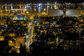 Haifa at night Stock Photography