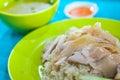 Hainan chicken rice Royalty Free Stock Photo
