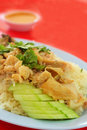 Hainanese chicken rice Stock Image