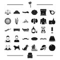 Hair, animal, food and other web icon in black style.clothing, equality, gay icons in set collection.
