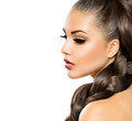 Hair braid beautiful woman with healthy long Stock Photography