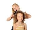 Hair brushing Royalty Free Stock Photo