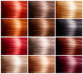 Hair Colors Set Stock Photos