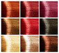 Hair Colors Set. Tints Stock Image