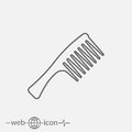 Hair comb vector icon