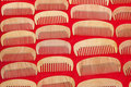 Hair combs made ​​of wood Stock Image