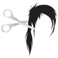 Hair cut an illustration of on white background Royalty Free Stock Images