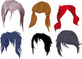The hair dress complete set Royalty Free Stock Photos