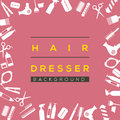 Hair Dresser Background. Royalty Free Stock Photo