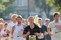 Hair glowing in the sun stockholm sep running girl with halvmarathon running event km sept stockholm sweden Stock Image