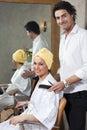 Hair salon Stock Image