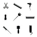 Hair salon elements icon vector on a white Royalty Free Stock Photos