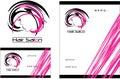 Hair salon modern Logo, Business Card, Flyer Royalty Free Stock Photo